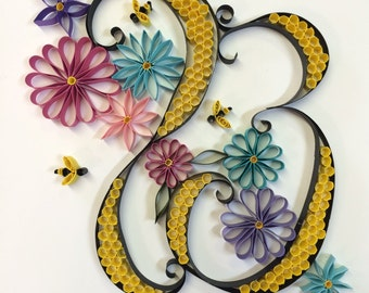"""The letter """"B"""" quilling"""