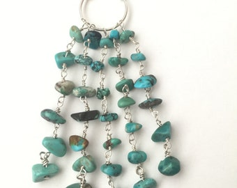 Turquoise Waterfall Circle Necklace