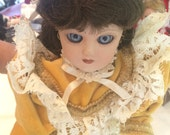 """Victorian Costumed Cleo Forever VALENTINA Porcelain Doll 16"""" Italy with Box"""