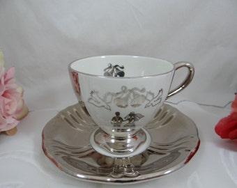 Vintage Royal Winton English Bone China Wedding Teacup - Wedding or Anniversary Gift - English Teacup