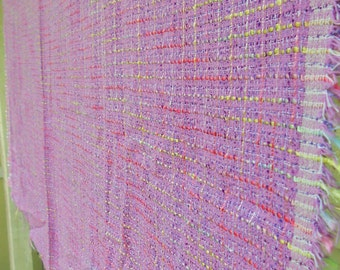 """1.75 yds by 56"""" wide Gorgeous Silk or Silk Blend Lavender Boucle Fabric - High End Apparel Yard Goods Sewing Supplies"""