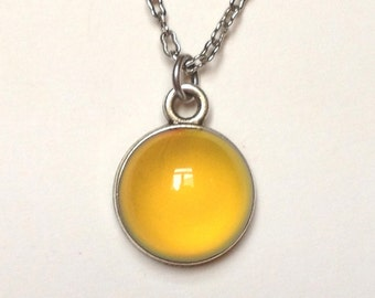 Mood Necklace - Antique Brass - Mood Stone 12 mm