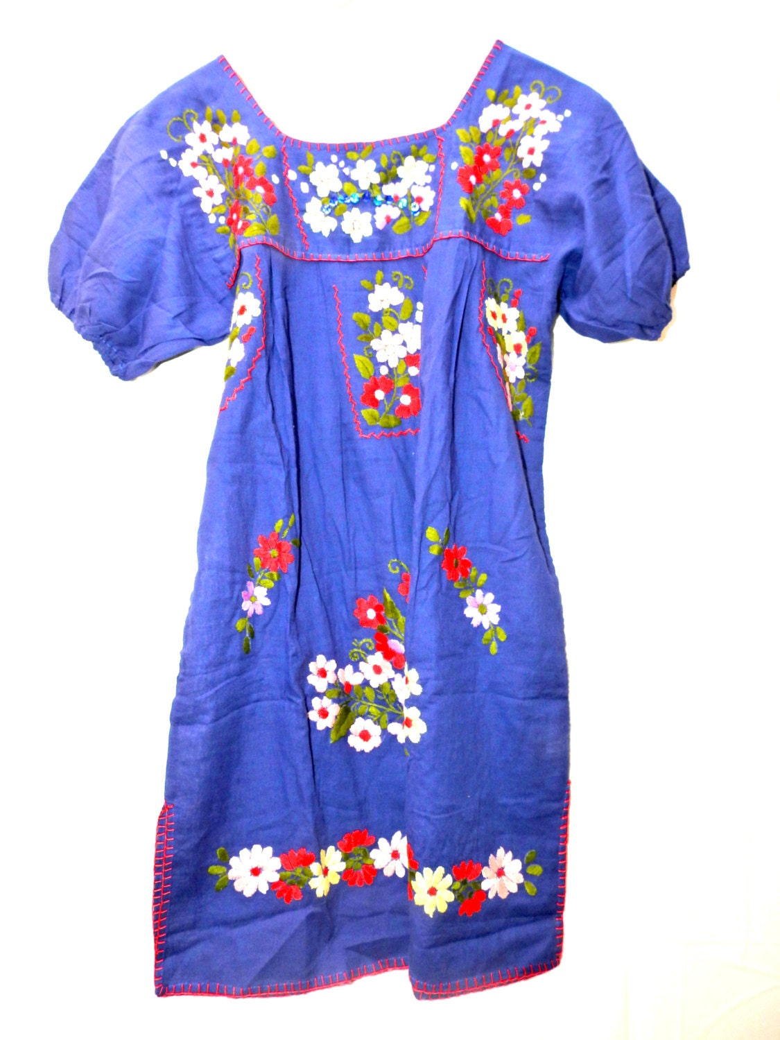 Mexican dress Mexican embroidered clothing Embroidered