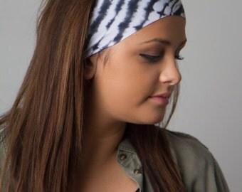 Running Headband by Manda Bees - No Slip Fitness Workout Headband - GREYSCALE