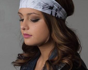 running headband that wont slip off, ever. best Yoga Fitness Headband by Manda Bees - No Slip Fitness Workout Headband - MARBLE