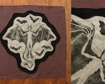 Nattmara Patch - [Special Edition] - Ecologically handprinted from carved linoleum
