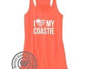 I Love My Coastie Tank Top, Military tank top, Coastie Wife, Coastie Girlfriend, Coastie Sister, Coastie Mom, Coastie Work out, Coast Guard