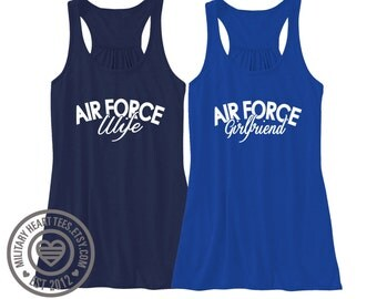 Custom Air Force Racerback Tank Top, air force wife, air force girlfriend, air force sister, air force mom, air force clothing, workout