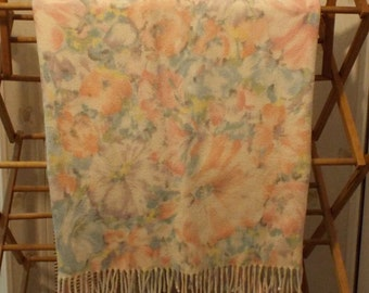 Vintage Shabby Chic English Cottage Floral Rose Throw Blanket Home Decor Fall and Winter