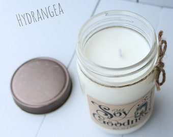 HYDRANGEA 12 oz | Hand-Poured Soy Candle