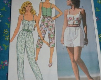 Butterick 3906  MIsses  Top Pants and Shorts Sewing Pattern - UNCUT Size 6 8 10