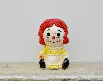 Vintage Raggedy Ann Planter, Baby Shower Gift, Succulent Planter, Nursery Decor, Baby Room, Raggedy Ann Decor