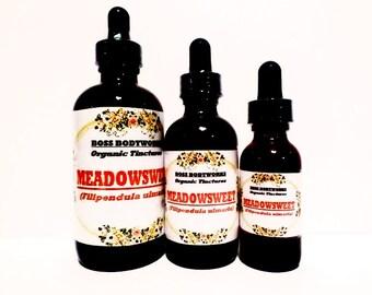 Organic MEADOWSWEET Tincture - 1oz, 2oz, 4oz - Filipendula ulmaria Herbal Extract