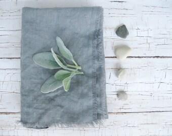 Gray Linen Rustic Bath Towel   Linen Hand Towel   Rustic Hand Towel   Set of 2 Towels