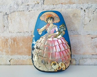 Antique Horner Dainty Dinah Toffee Tin from the 1930's, Collectible Vintage Candy Tin