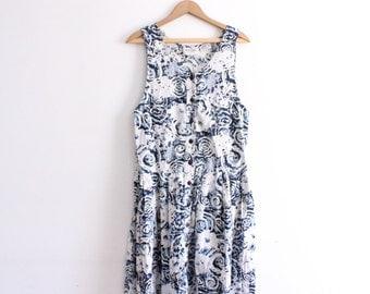 Swirly 90s Summer Midi Dress