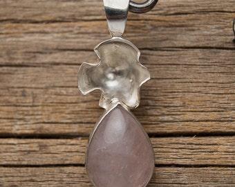 Sterling silver Rose Quartz pedant