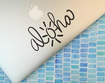Aloha                 , Laptop Stickers, Laptop Decal, Macbook Decal, Car Decal, Vinyl Decal