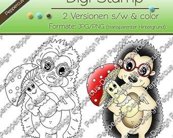 Digi stamp set - Hedgehog mushroom / E0064