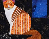 Striped Tabby Cat - Paper Piecing