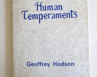 The Seven Human Temperaments by Geoffrey Hodson - Hardcover book 1977