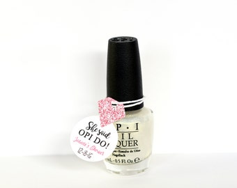 Nail Polish Favor Tags Bachelorette Party Mani Thanks Bridal Wedding Shower