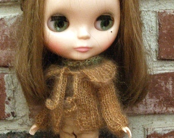 Blythe Sweater Knit in Soft Burnt Sienna Cardigan Sweater