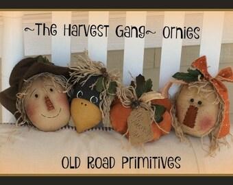 Primitive Pattern The Harvest Gang Ornies ePattern