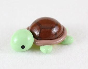 Chubby Sea Turtle Totem - Polymer Clay Animal Totem - Miniature Turtle - Spirit Animal - Turtle Figurine - Polymer Clay Turtle