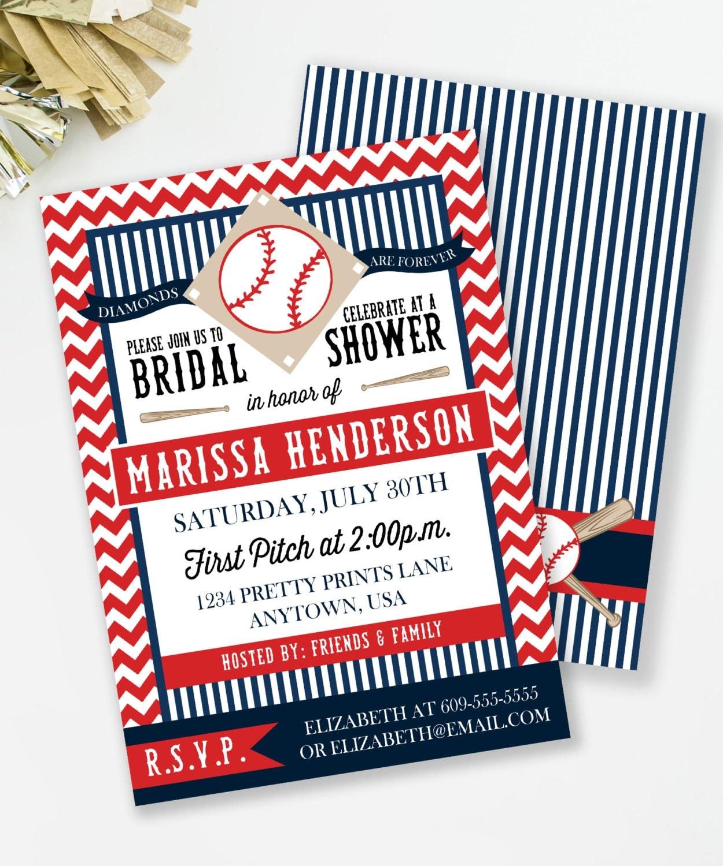 baseball ticket bridal shower invitations - 28 images - themed ...