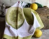 Botanical Lemon Tea Towel  Eco Friendly