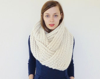 Chunky Knit Infinity Scarf Giant Oversized Circle Scarf Wool | THE CONTINENTAL GIANT