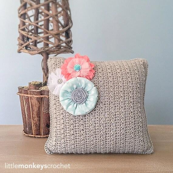Crochet Throw Pillow Pattern Throw Pillow Crochet Pattern by