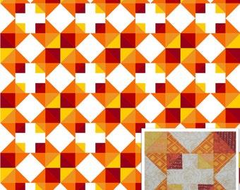 Autumn Chain Modern Quilt Pattern PDF