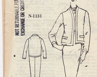 Very Rare - Spadea American Designer Pattern N-1131 Anne Klein of Junior Sophisticates Womens Fitted Skirt & Jacket - Size 10 Bust 34 UNCUT