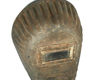 Vintage 1940s Welding Mask Welder Gifts Industrial Decor Face Shield Made in France