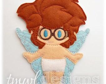 Gage Fairy Felt Paper Doll Toy Digital Design File - 5x7