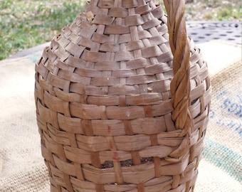 Vintage Wicker Demijohn with Wicker Handle