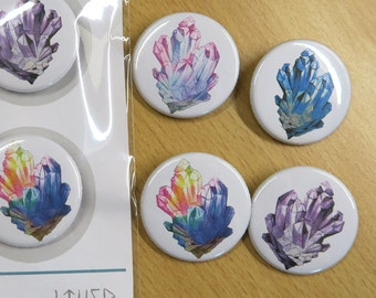 Crystal - 35mm Badge / Buttons - Individual