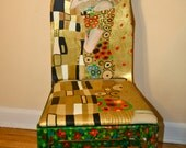 Klimt The Kiss upcycled chair painted by Artist Todd Fendos
