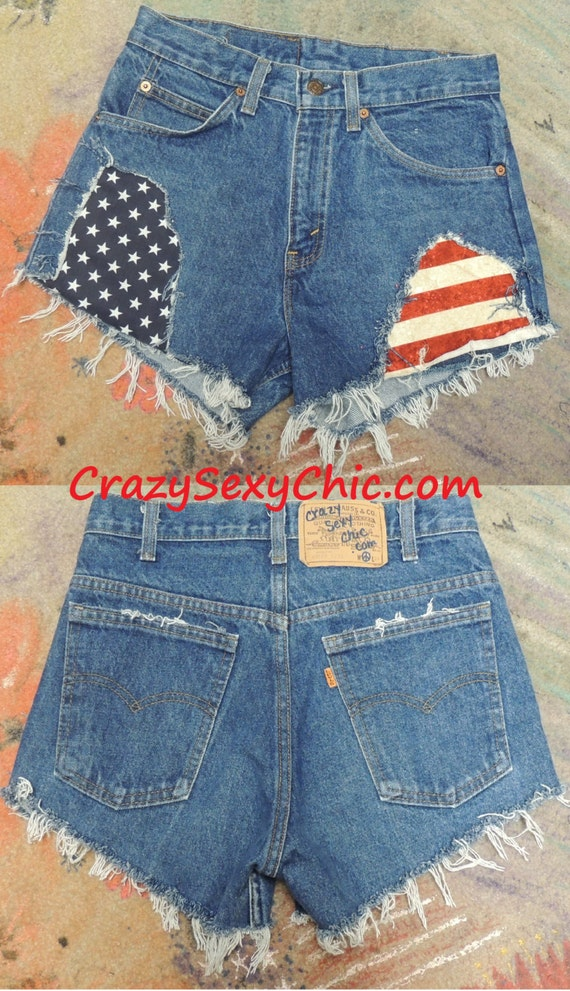 Ripped and Patched Shorts from CrazySexyChic