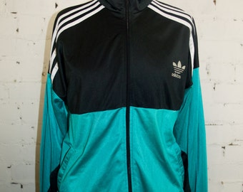 SALE! two colored Adidas sports jacket. In Black and mint green. EU 42. L. Synthetic.