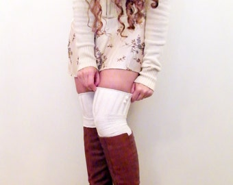 Knee High Lace Boot Socks White Knee Highs White lace Boot