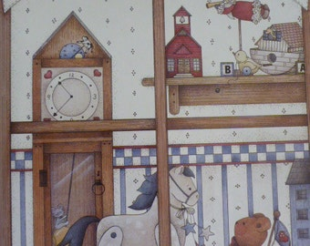 Pipsqueaks Best of the first Volumes 1995 by Kathi Walters-  ink and wash, tole painting, grandfather clock, santa, bears, noah's ark : 1506