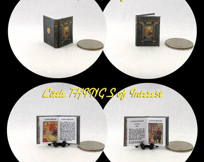 Miniature Book -- A LITTLE PRINCESS Dollhouse Miniatures Book Illustrated Readable 1:12 Scale Book