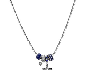"DUKE University Blue Devils ""D"" Beaded Pendant Necklace"