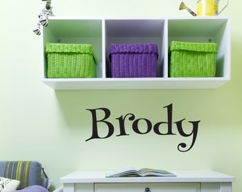 Personalized Childrens Wall Decal - Nursery Wall Decal - Boys Name Wall Decal - Personalized Name Decal - Vinyl Wall Decal
