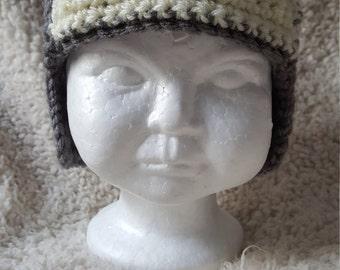 Crochet Aviator hat, pilot hat, Toddler Hat