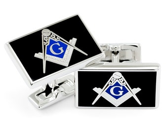 Freemason Square and Compass Cuff Links// Freemasonry/  Freemason/ Father's Day Gifts/ Gifts for Him/ Fraternity Gifts/ Masonic Fraternity