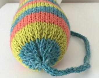 Hand Knit Catnip Kick Stick Cat Toy-100% Wool